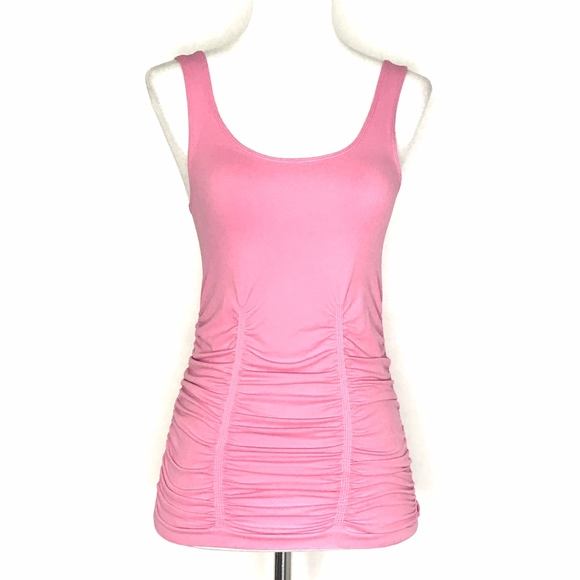 Laundry By Shelli Segal Tops - 🌈 Laundry Shelli Segal Pink Ruched Tank A030636